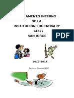 Reglamento Interno DE LA IE N°14327-SAN JORGE-FRIAS.AYABACA.