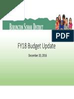 FY18 Budget Development Update 20161220