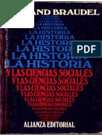 Braudel La Historia y Las Cs.soc.