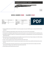 Ruger American Rimfire Target Rifle Spec Sheet