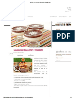Mousse de Coco Com Chocolate – Panelaterapia