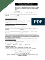 Lake Winni Music Camp 2017 Registration Form