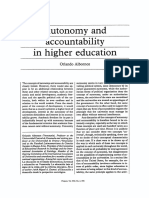 Albornoz. Autonomy and Accountability in Higher Education