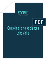 Controlling Home Appliances Using Voice