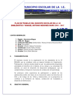 Plan de Trabajo Del Municipio Escolar de La Iie Emamm i