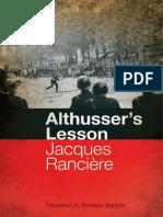 Althusser's Lesson - Jacques Ranciere.pdf