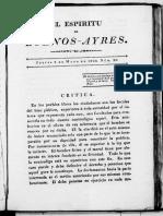 Espiritu de Buenos Aires 1822-Nro. 20