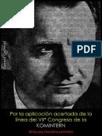 Klement Gottwald; Por la aplicación acertada de la línea del VIIº Congreso de la Komintern, 1936.pdf