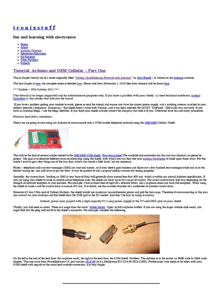 70172320 Cellular Shieldpdf Short Message Service Arduino Electronic Lamp Switch Including Time Delay Option Eeweb Community