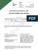 LCM 09 Lattice Tower Load Testing Version 1.1
