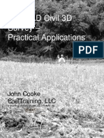 AutoCAD Civil 3D Survey - Practical Applications
