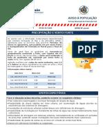 Aviso � População N.º 04 - PRECIPITAÇÃO, VENTO FORTE E AG