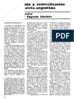 Gastiazoro. Acumulación y Centralización en La Industria (1972) (1)