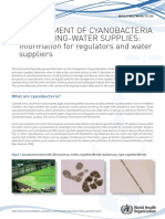 Management of Cyanobacteria in Drinking-water Supplies