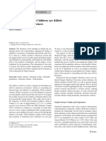 Familicide Why Children Are Killed