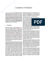 UN Mediation of Kashmir