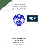 UAS Perancangan Alat Proses - Rayhan Hafidz I. - 1306409362 - PAP 01 - Heat Exchanger