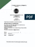 P6 Maths SA1 2015 MGS Exam Papers