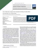 effect of ultrasonic energy on enzymatic desizing of cotton