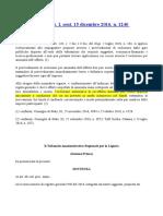 Tar Liguria Sentenza 1240 Del 15-12-2016