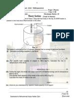 Physics Test(Unit 10 & Expasion) PDF.
