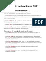 Repositorio de Funciones Php