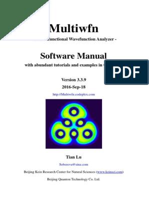 Manual_3 3 9   Molecular Orbital   Graphical User Interfaces