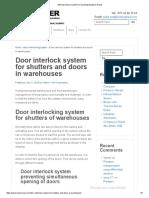 Interlocked Door System for Warehouses_Vacker Dubai