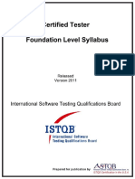 ISTQB Certified Tester Foundation Level Syllabus