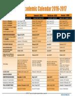 Academic Calendar 2016-2017 - 9Aug16