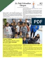 """Journal """"Le Petit Colombien Citoyen"""" - Édition 3"""