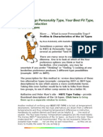 Myers-briggs Personality Type Your Best Fit Type and an Introduction 569