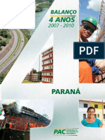 Cartilha Estadual - Paraná (11º Balanço PAC - 4 Anos)