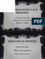 Briefing for RS1 RS2 Semester 1 20162017