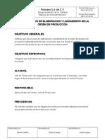 Procesos de Elaboracion y Lanzamiento de PROD