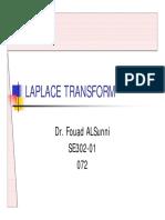 Files-2. Mathematical Preliminaries SE302 Topic 2 - Laplace Transform