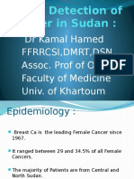 Earlier Detection of Cancer in Sudan