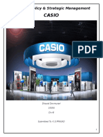 Casio organisation pestel, swot ananlysis and strategic lenses