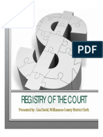 Registry of the Court - Lisa David