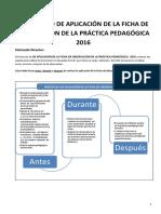 Protocolo de Aplicación de La Ficha de Observación de La Práctica Pedagógica