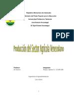 Producción del Sector Agrícola Venezolano