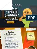 How to Deal With a Credit Grabber Boss