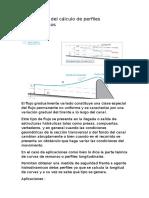 Aplicaciones Del Cálculo de Perfiles Hidrodinámicos