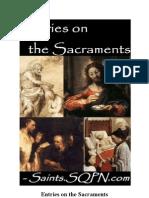 Entries on the Sacraments