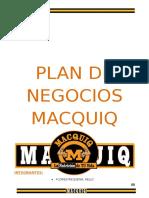 Plan de Negocios Macquiq2016