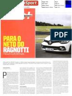 """NOVO RENAULT CLIO R.S. TROPHY NO """"AUTOSPORT"""""""