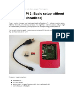 Raspberry Pi 2 Headless Setup