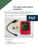 Raspberry Pi 2 Headless Setup