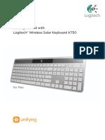 Wireless Solar Keyboard k750 for Mac