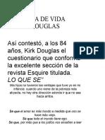 Filosofia de Vida Kirk Douglas